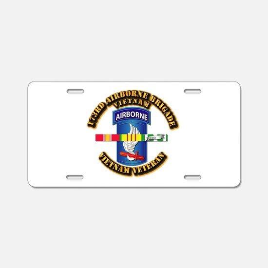 Army - 173rd Airborne Brigade w SVC Ribbons Alumin