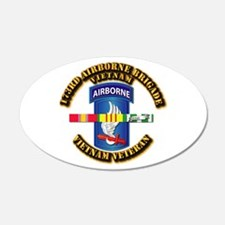 Army - 173rd Airborne Brigade w SVC Ribbons Wall Decal