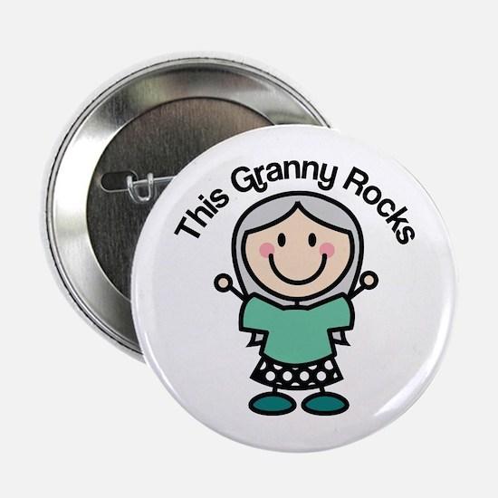 """Granny Rocks 2.25"""" Button"""