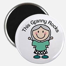 Granny Rocks Magnet