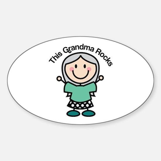 Grandma Rocks Sticker (Oval)