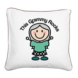 Grammy Square Canvas Pillows