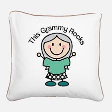 Grammy Rocks Square Canvas Pillow