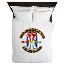Army - 11th Infantry Bde w Svc Ribbons Queen Duvet