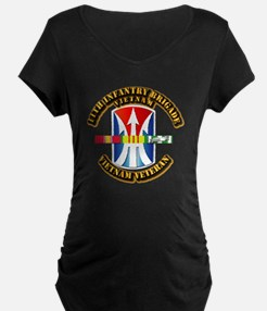 Army - 11th Infantry Bde w Svc Ribbons T-Shirt