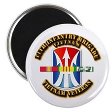 """Army - 11th Infantry Bde w Svc Ribbons 2.25"""" Magne"""