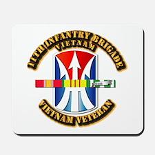 Army - 11th Infantry Bde w Svc Ribbons Mousepad