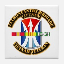 Army - 11th Infantry Bde w Svc Ribbons Tile Coaste