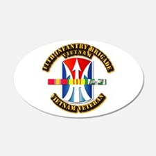 Army - 11th Infantry Bde w Svc Ribbons Wall Decal