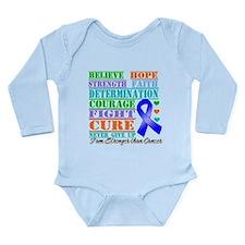Colon Cancer Believe Strength Body Suit