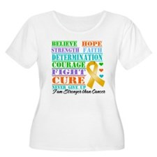 Childhood Cancer Believe Plus Size T-Shirt