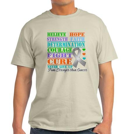Brain Cancer Believe Strength T-Shirt