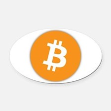 bitcoin Oval Car Magnet