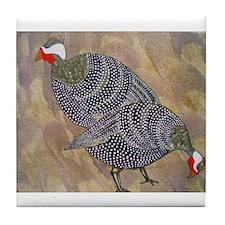 guinea hens Tile Coaster