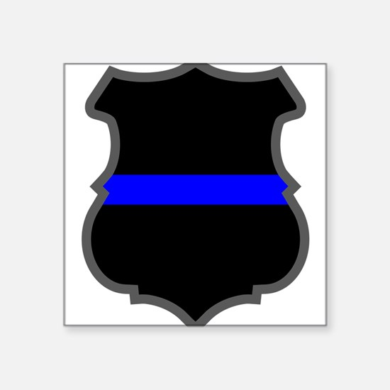 Blue Line Badge 1 Oval Sticker