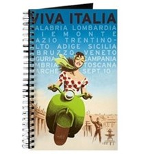 Viva Italia, Travel, Italy,Vintage Poster Journal