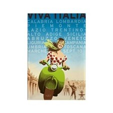 Viva Italia, Travel, Italy,Vintage Poster Rectangl