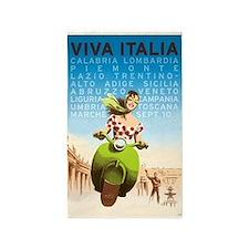 Viva Italia, Travel, Italy,Vintage Poster 3'x5' Ar