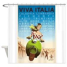 Viva Italia, Travel, Italy,Vintage Poster Shower C