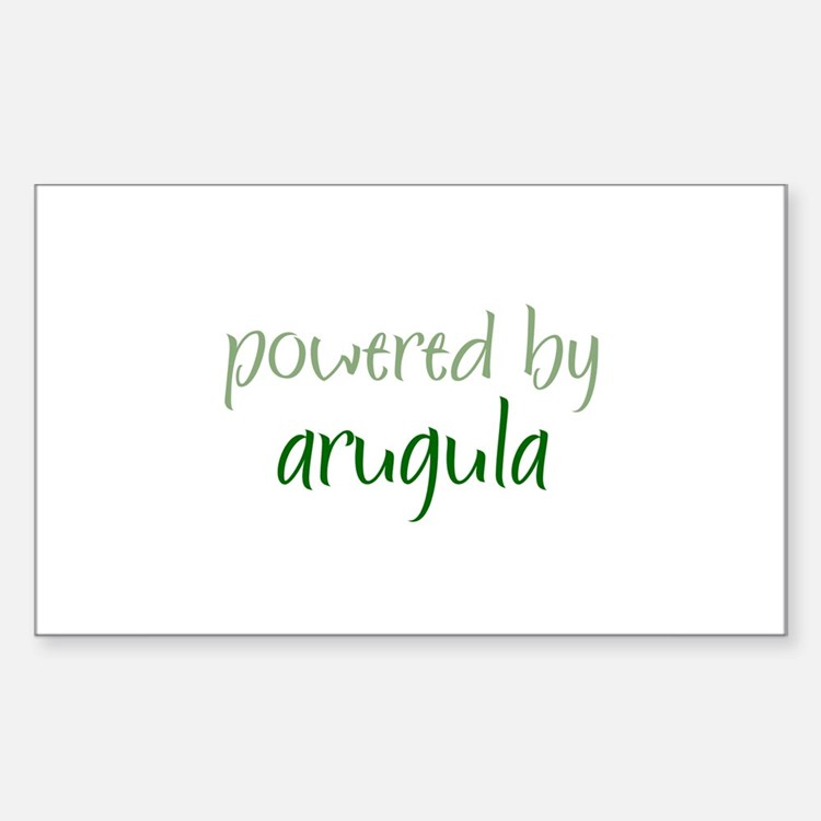 Powered By arugula Rectangle Decal