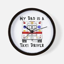 Taxi Driver Dad Wall Clock