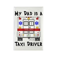 Taxi Driver Dad Rectangle Magnet