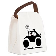 STICKMAN BAJA BUG black image Canvas Lunch Bag