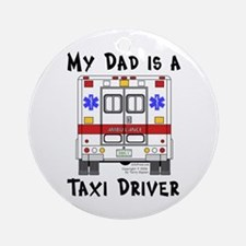 Taxi Driver Dad Ornament (Round)