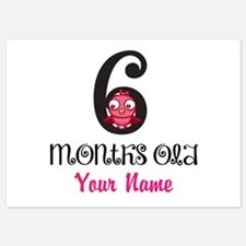 6 Months Old Baby Bird - Personalized Flat Cards