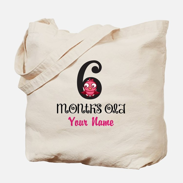 6 Months Old Baby Bird - Personalized Tote Bag