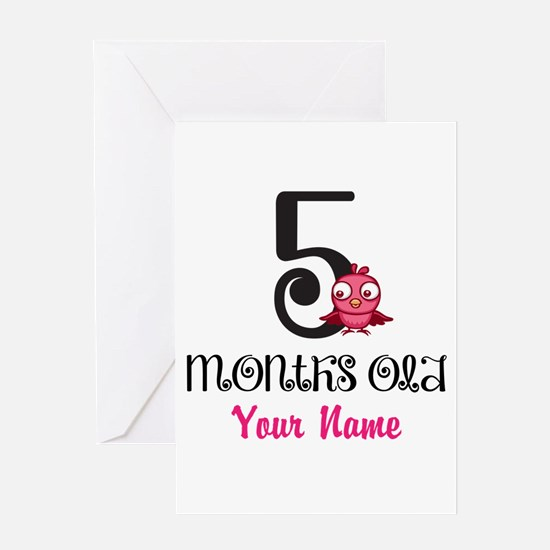 5 Months Old Baby Bird - Personalized Greeting Car