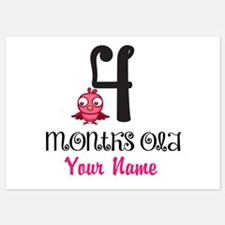 4 Months Old Baby Bird - Personalized Flat Cards