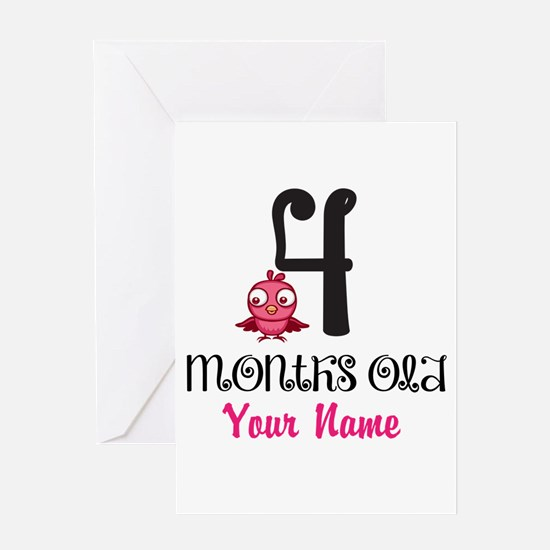 4 Months Old Baby Bird - Personalized Greeting Car
