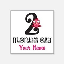 2 Months Old Baby Bird - Personalized Sticker