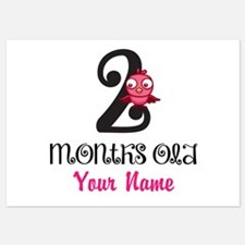 2 Months Old Baby Bird - Personalized Flat Cards