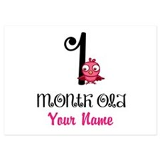 1 Month Old Baby Bird - Personalized Flat Cards