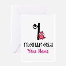 1 Month Old Baby Bird - Personalized Greeting Card
