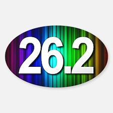 Super Unique 26.2 Rainbow Decal