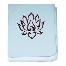 Lotus Flower baby blanket