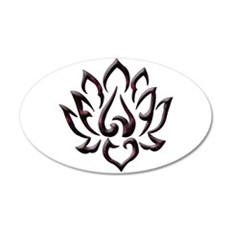 Lotus Flower 35x21 Oval Wall Decal