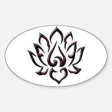 Lotus Flower Sticker (Oval)