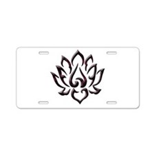 Lotus Flower Aluminum License Plate
