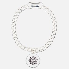Lotus Flower Charm Bracelet, One Charm
