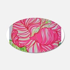 Hibiscus in Lilly Pulitzer Wall Decal
