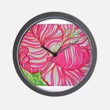 Hibiscus in Lilly Pulitzer Wall Clock