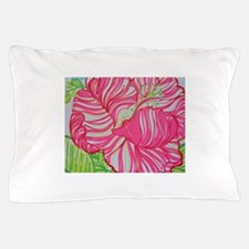 Hibiscus in Lilly Pulitzer Pillow Case