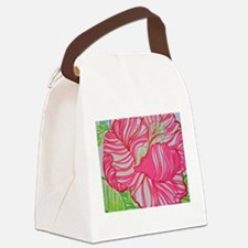 Hibiscus in Lilly Pulitzer Canvas Lunch Bag