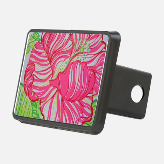 Hibiscus in Lilly Pulitzer Hitch Cover