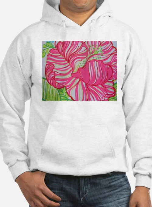 Hibiscus in Lilly Pulitzer Hoodie