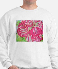 Hibiscus in Lilly Pulitzer Sweatshirt